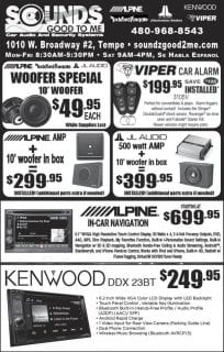 November Sales at Sounds Good To Me in Tempe Arizona