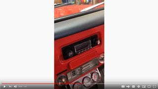 Installation of a retro sound radio, Alpine amp, woofer, kit panel speakers and center channel speaker in a 1971 Chevy Truck at Sounds Good To Me in Tempe AZ