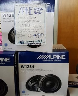 Alpine W2S4 Woofer Sale at Sounds Good To Me in Tempe, AZ
