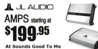 JL Audio amps starting at $199.95 at Sounds Good To Me in Tempe AZ