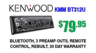 Kenwood KMM-BT312U digital receiver with Bluetooth