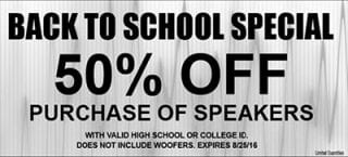 Back to School Special at Sounds Good To Me in Tempe AZ