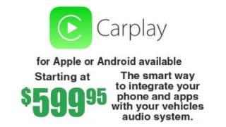 Carplay for Apple or Android Available Starting a $599.95 at Sounds Good To Me in Tempe, AZt