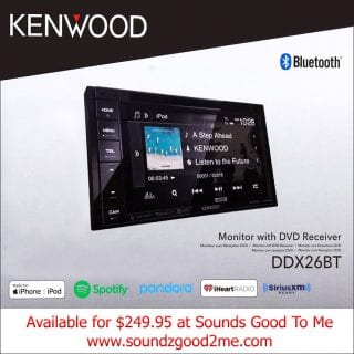 Kenwood in-dash DVD player DDX26BT $249.95 at Sounds Good To Me in Tempe, Arizona