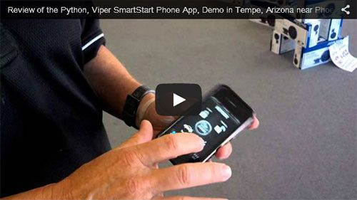 Review of the Python, Viper SmartStart Phone App, Demo in Tempe, Arizona near Phoenix
