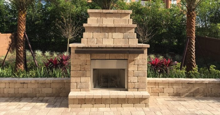 Fire Pit Installation by BLG Environmental Services - professional Hardscape Installation and Hardscape Design in Orlando, Florida