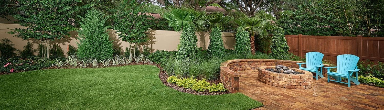 Patio Design and Fire Pit Installation by BLG Environmental Services in Orlando, Florida