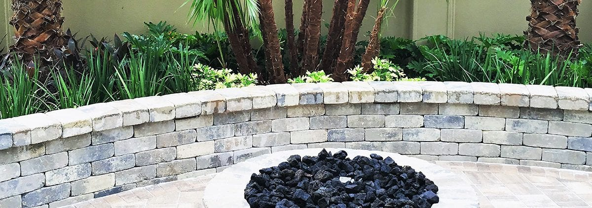 Learn How Our Landscape Designer in Orlando FL Implemented a New Seating Wall at BLG Environmental Services