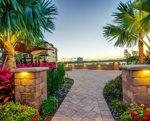 Custom Designed Landscapes in Dr. Phillips, Florida by BLG Environmental Services