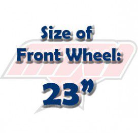 """Size of Front Wheel: 23"""""""