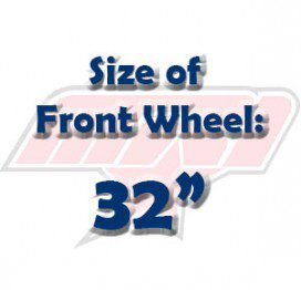 """Size of Front Wheel: 32"""""""