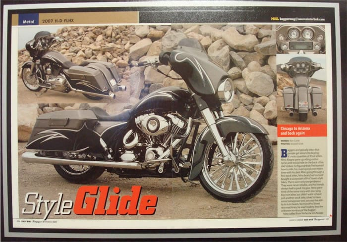 Style Glide - Hot Bike Baggers March 2008