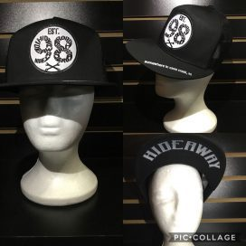 Roadhouse / The Hideaway Grill - Cave Creek: 98 Logo Baseball Cap - Black