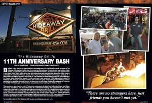 AM Cycle Article - January 2010 - The Hideaway Grill's 11th Anniversary Bash