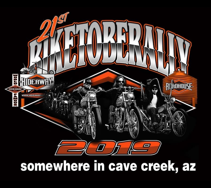 Join the Hideaway Grill and Roadhouse for Biketoberally 2019 somewhere in Cave Creek, AZ