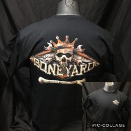 The Hideaway Grill: Men's Short Sleeve Boneyard Shirt - Black