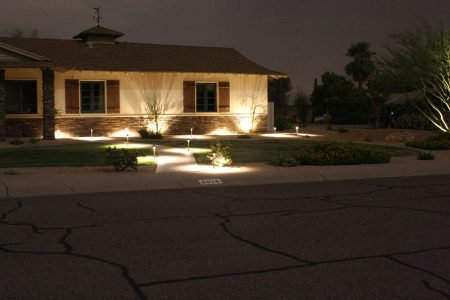 LED Low Voltage Landscape Lighting available at Southwest Lawn Sprinkling Specialists in Phoenix, Arizona